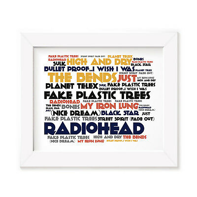Radiohead Poster Print - The Bends - Lyrics Gift Signed Art