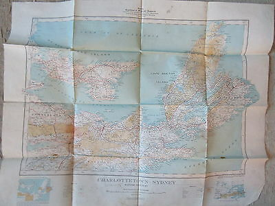 Old 1938 Map Charlottetown Sydney Maritime Provinces Department Mines Canada