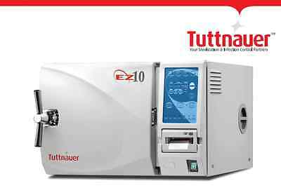 Tuttnauer EZ10 The Fully Automatic Autoclave, No Printer, 2 Year Warranty, New