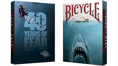 Bicycle 40 Years of Fear Jaws Playing Card Poker Spielkarten