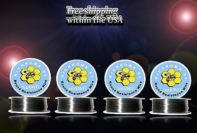 (4pcs)100ft Roll of Each Gauge 24,26,28,30 Nichrome 80 Resistance Wire