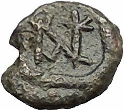 Anastasius I 491AD Ancient Medieval Byzantine Coin Monogram in Circle i54911