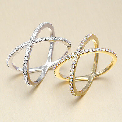 Fashion Jewelry Austalia Crystal 925 Silver Gold Plated Sapphire Wedding Ring