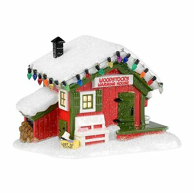 Peanuts Village Woodstocks Warming House Department 56 Snoopy Christmas