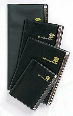 Address Book Index Executive Black Spiral View Tabs