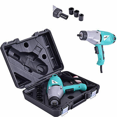 "Electric Impact Wrench 1/2"" Drive and 4 Sockets 450NM TORQUE 1010W Heavy Duty"