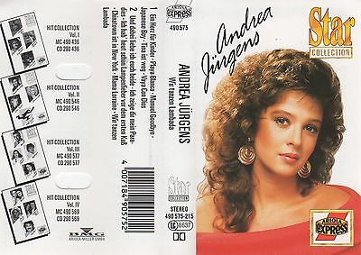 ANDREA JÜRGENS Wir tanzen Lambada MC Tape MUSIKKASSETTE Ariola STAR COLLECTION