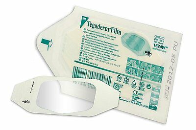 TEGADERM FILM Dressing 6cm x 7cm x1 3M - Tattoo/Burns/Wounds/Abrasions 1624DT