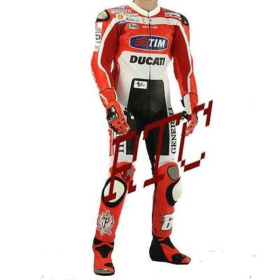 Valentino Rossi Motogp Ducati 2014  Motorbike Leather Suit (Free Shoes & Gloves)