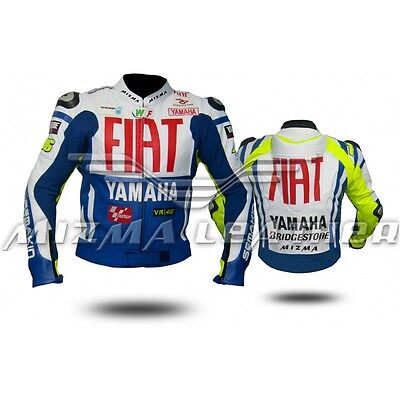 YAMAHA FIAT Motorbike Motorcycle Motogp Leather Jacket ( Sale) (Sale)
