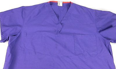 Womens scrubs Angelica XL Purple V-Neck Poly Cotton