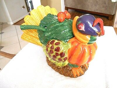 Department 56 Holiday Turkey Tureen & Lid w/ Ladle called THE HARVEST
