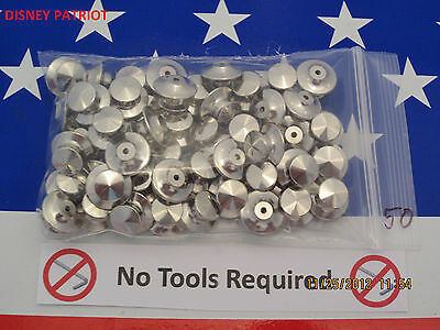 100 Locking Pin Backs for Disney pins  Best Avail! A+ Since 2006 USA seller