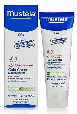 Mustela BEBE Cold Cream face for winter babies infant wind PROTECTION 40ml