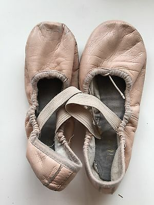 BLOCH LEATHER BALLET SHOES Pink Pre-loved Size 13