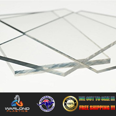 Clear Perspex Acrylic - Cut Sheets - Select Panel Sizes - Free Shipping!