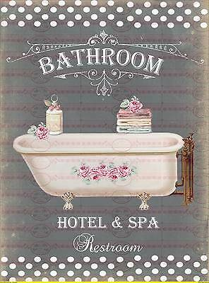 BÜGELBILD-Vintage-Shabby-French-Bath-Bad-3307