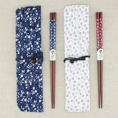 1/2 Pairs Japanese Wooden Chopsticks Beautiful Gift Wood Tableware Set Dinner