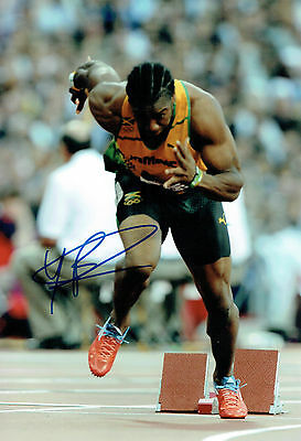 Johan BLAKE Autograph Signed RACE Photo AFTAL COA Jamaica Athlete Sprinter