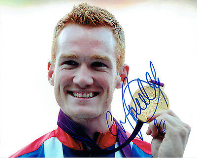Greg RUTHERFORD Autograph Signed Victory 10x8 Photo AFTAL COA Olympic Gold Medal