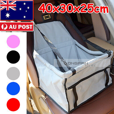 Dog Cat Pet Puppy Safety Car Seat Cover Booster travel Bag Mat Soft Cage carrier