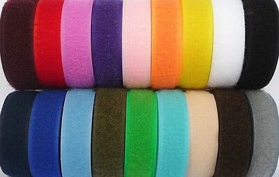 Hook and Loop Tape 20mm Sew On SHIPPED FROM THE UK From 99p/m for both sides
