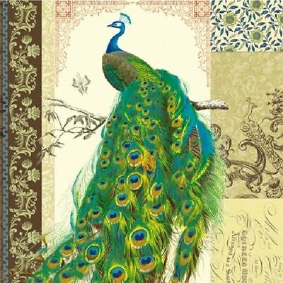 4 x Paper Napkins - Peacock - Ideal for Decoupage / Decopatch