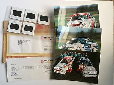 Vauxhall British Touring Cars Press Release. Collectable Item Pr0193