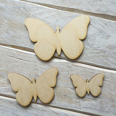 Wooden BUTTERFLY Shape Craft Blank Embellishments BUTTERFLY 10 Pack