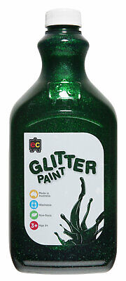 EC Paint Glitter Water Based Acrylic Non Toxic 2 Litre  - Green