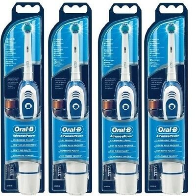 4 X Oral-B Advance Power 400 DB4010 Battery Powered Electric Toothbrush
