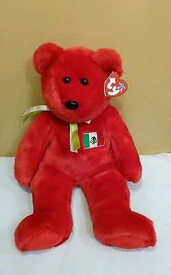 Ty Beanie Buddy OSITO the Mexican Bear w/FLAG 1999, Retired & New