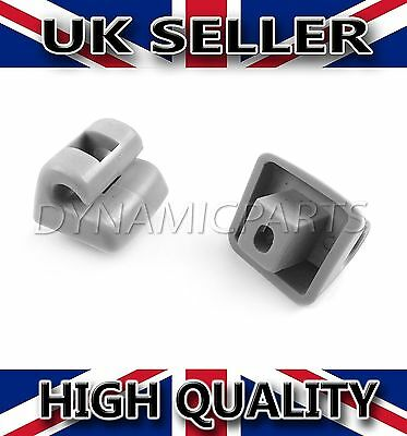 Mercedes Benz W123 W124 W126 W140 W201 Pair of Sun Visor Clips [GREY]