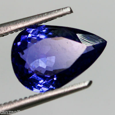 3,59 cts, TANZANITE NATURELLE AAA COLOR, CERTIFICAT  (pierres précieuses/ fines)