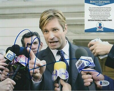 Aaron Eckhart Signed Thank You For Smoking 8x10 w PHOTO PROOF