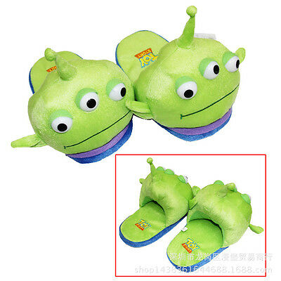 Monsters University Mike Wazowski Plush Adult Indoor Slippers Shoes