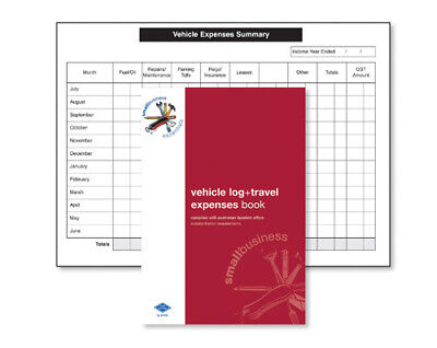 Zions Vehicle Log & Travel Expense Book A5