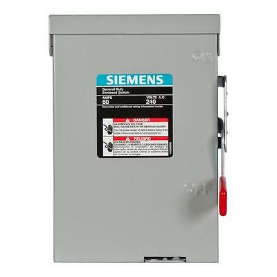 General 60-Amp 240-Volt Double-Pole Outdoor Non-Fusible Safety-Switch-Disconnect