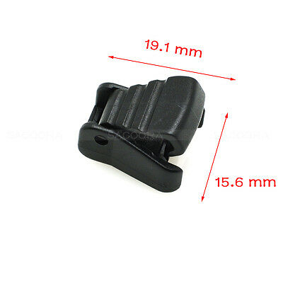 Plastic Cord Ends Zipper Pull Cord Lock Stopper For  Backpack/Paracord Black