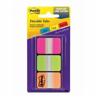 Post It 686-PGO Durable And Repositionable Index Tabs  - 66 Pack