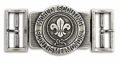 World Scout Belt Buckle Antique Silver Colour Finish