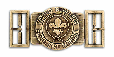 World Scout Belt Buckle Antique Bronze Colour Finish