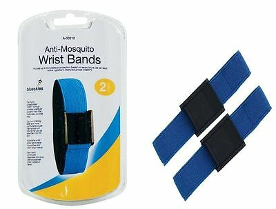 2 x Anti Mosquito Repellent 100% Deet Insect Fly Holiday Wrist Ankle Bands -