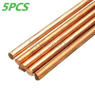 5pcs 99.9% Pure Copper Cu Rods Cylinder Diameter 3mm Length 100mm Metalworking