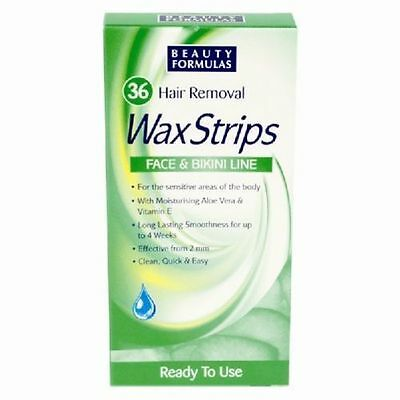 Women Hair Removal 36 Wax Strips For Face & Bikini Line - LOWEST PRICE -;_;-