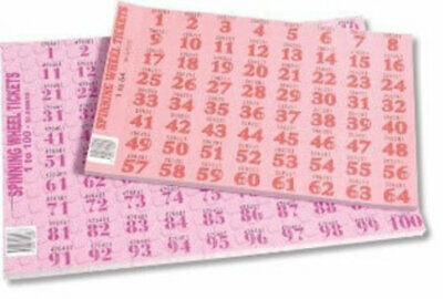 Chocolate / Spinning Wheel Tickets 1-100 Pad