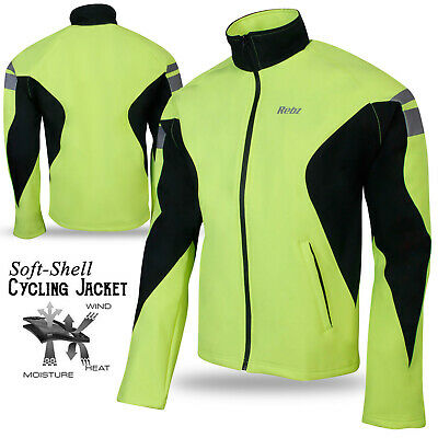 Cycling Winter Jacket Soft Shell Windproof Long Sleeve Wind Thermal Reflective