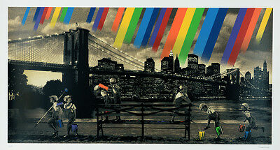 ROAMCOUCH - Brooklyn Bridge (Sepia) + COA | Street, Urban Graffiti art print