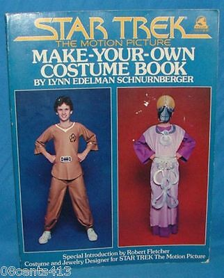 Star Trek The Motion Picture Make Your Own Costume / Uniform Design Book