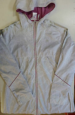Ladies Womens Adidas Climaproof Windproof Outdoor Walking Hooded Long Jacket